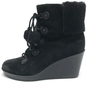 COLE HAAN NIKE AIR TALI Shearling Ankle Boots 9